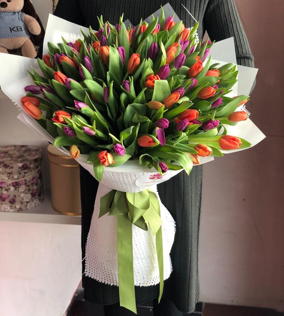 Свадебный букет с голландских тюльпанов купить